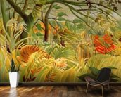 Tiger in a Tropical Storm (Surprised!) 1891 (oil on canvas) wallpaper mural kitchen preview