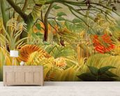 Tiger in a Tropical Storm (Surprised!) 1891 (oil on canvas) wallpaper mural living room preview
