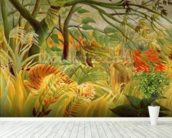 Tiger in a Tropical Storm (Surprised!) 1891 (oil on canvas) wallpaper mural in-room view