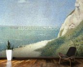Beach at Bas Butin, Honfleur, 1886 mural wallpaper kitchen preview