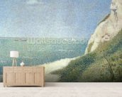 Beach at Bas Butin, Honfleur, 1886 mural wallpaper living room preview