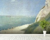 Beach at Bas Butin, Honfleur, 1886 mural wallpaper in-room view
