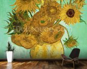 Sunflowers, 1888 (oil on canvas) mural wallpaper kitchen preview