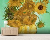 Sunflowers, 1888 (oil on canvas) mural wallpaper living room preview