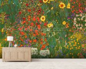 Farm Garden with Flowers (Brewery Garden at Litzlberg on the Attersee) c.1906 wall mural living room preview