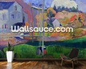 Brittany Landscape: the David Mill, 1894 (oil on canvas) wallpaper mural kitchen preview