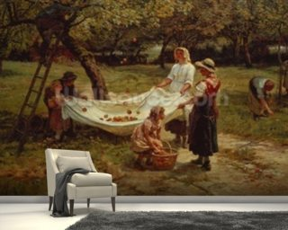 The Apple Gatherers, 1880 mural wallpaper