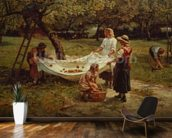 The Apple Gatherers, 1880 mural wallpaper kitchen preview