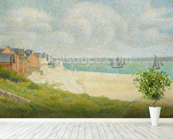 Le Crotoy looking Upstream, 1889 wall mural room setting