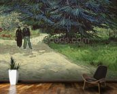 Couple in the Park, Arles, 1888 (oil on canvas) wallpaper mural kitchen preview