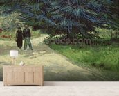 Couple in the Park, Arles, 1888 (oil on canvas) wallpaper mural living room preview