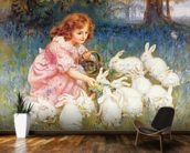 Feeding the Rabbits wallpaper mural kitchen preview