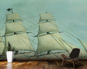 The Clipper ship Highflyer, 1111 tons (colour litho) wall mural kitchen preview