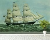 The Clipper ship Highflyer, 1111 tons (colour litho) wall mural in-room view