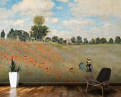 Wild Poppies, near Argenteuil (Les Coquelicots: environs dArgenteuil), 1873 (oil on canvas) wallpaper mural kitchen preview