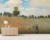 Wild Poppies, near Argenteuil (Les Coquelicots: environs dArgenteuil), 1873 (oil on canvas) wallpaper mural living room preview