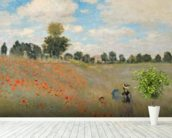 Wild Poppies, near Argenteuil (Les Coquelicots: environs dArgenteuil), 1873 (oil on canvas) wallpaper mural in-room view