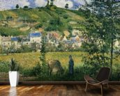 Landscape at Chaponval, 1880 (oil on canvas) wall mural kitchen preview