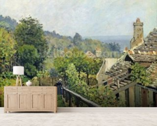 Louveciennes or, The Heights at Marly, 1873 (oil on canvas) wallpaper mural