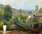 Louveciennes or, The Heights at Marly, 1873 (oil on canvas) wallpaper mural kitchen preview