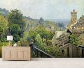Louveciennes or, The Heights at Marly, 1873 (oil on canvas) wallpaper mural living room preview