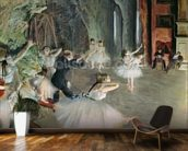 The Rehearsal of the Ballet on Stage, c.1878-79 (pastel on paper) wallpaper mural kitchen preview