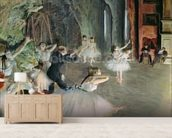 The Rehearsal of the Ballet on Stage, c.1878-79 (pastel on paper) wallpaper mural living room preview