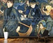 The Umbrellas, c.1881-6 (oil on canvas) mural wallpaper kitchen preview
