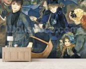 The Umbrellas, c.1881-6 (oil on canvas) mural wallpaper living room preview