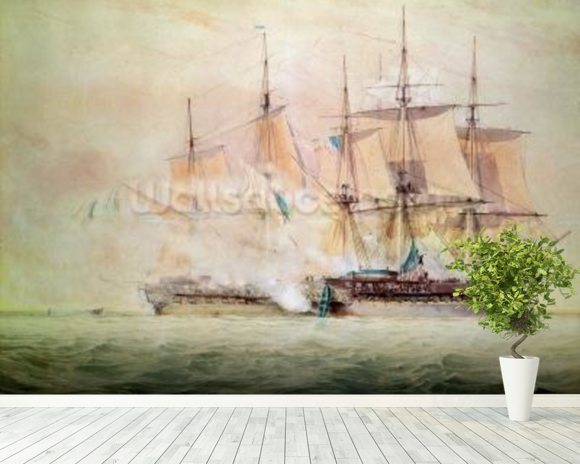 Boarding the Chesapeake (w/c on paper) wall mural room setting