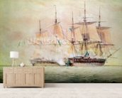 Boarding the Chesapeake (w/c on paper) wall mural living room preview