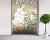 Cycling poster by Tairiet, (c.1898) wallpaper mural in-room view