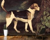 Ringwood, a Brocklesby Foxhound, 1792 (oil on canvas) mural wallpaper kitchen preview
