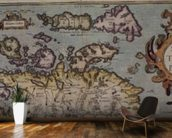 Map of Scotland, Miliaria Scotia wall mural kitchen preview