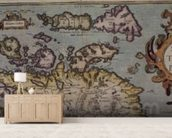 Map of Scotland, Miliaria Scotia wall mural living room preview