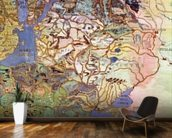Map of Central Europe, from the Sala Del Mappamondo (Hall of the World Maps) (fresco) wall mural kitchen preview