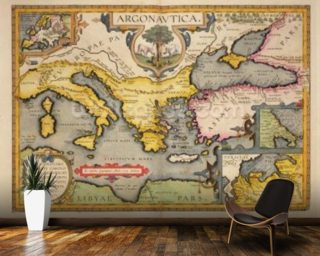 Map of the Voyage of the Argonauts Wall Mural Wallpaper Wall Murals Wallpaper