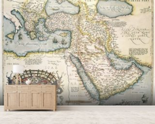 Map of the Middle East Wallpaper Mural Wall Murals Wallpaper