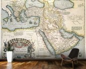 Map of the Middle East, from Theatrvm Orbis Terrarvm, 1570 (hand coloured engraving) wallpaper mural kitchen preview
