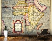 Africae tabvla nova, 1570 (colour engraving) wall mural kitchen preview
