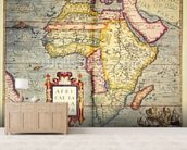 Africae tabvla nova, 1570 (colour engraving) wall mural living room preview