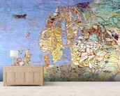 Map of Sixteenth Century Europe, from the Sala del Mappamondo (Hall of the World Maps) c.1574-75 (fresco) mural wallpaper living room preview