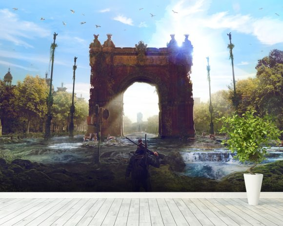 Arc de triomf post apocalypse wall mural arc de triomf for Arc de triomphe wall mural