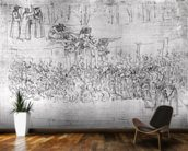 Purgatory, from The Divine Comedy by Dante Alighieri (1265-1321) c.1480 (pen & ink on paper) wallpaper mural kitchen preview