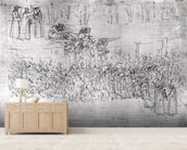 Purgatory, from The Divine Comedy by Dante Alighieri (1265-1321) c.1480 (pen & ink on paper) wallpaper mural living room preview