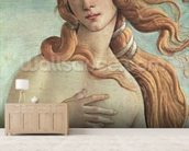 Venus, detail from The Birth of Venus, c.1485 (tempera on canvas) (detail of 412) wall mural living room preview