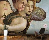 Zephyr and Chloris, detail from The Birth of Venus, c.1485 (tempera on canvas) (see 412 and 85293) wallpaper mural kitchen preview