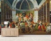 The Story of Virginia, c.1500 (tempera on panel) mural wallpaper living room preview