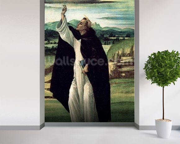 St. Dominic, c.1498-1505 (tempera on canvas) wall mural room setting