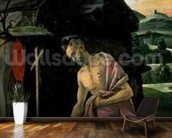 St. Jerome, 1490s (tempera on panel) wallpaper mural kitchen preview